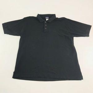 Patagonia Mens Shirt Polo Black Organic Cotton